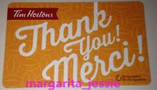 TIM HORTONS CANADA 2016 GIFT CARD ORANGE THANK YOU/MERCI FD51886 NO VALUE #6126