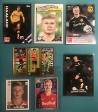 Erling Haaland 🇳🇴 / Rookie RC Lot - 7 Sticker / Cards (Topps on Demand,Panini)