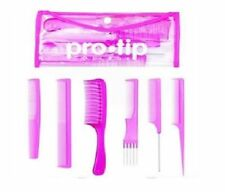 Pro-Tip Hairdressing College kit - 6 High Grade Combs In A Wallet Set - PINK
