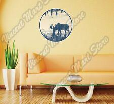 """Elk Deer Moose Hunting Hunter Hunt Wall Sticker Room Interior Decor 22""""X22"""""""