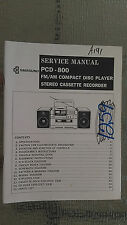 Samsung pcd-800 service manual original repair book stereo boombox radio cd