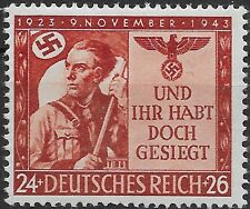 Germany Third Reich Mi# 863 MNH 20th Anniversary of Munich Rising 1943 **