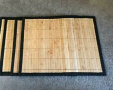 Handmade Bamboo Table Mats Kitchen Dining  33 cm x 23 cm size Natural 6 Mats