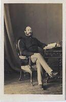 Ritratto Un Uomo Dei Lettere Second Empire CDV Vintage Albumina Ca 1860