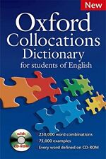 Oxford Collocation Dictionary With CD ROM By Mcintosh,C.