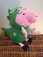 PEPPA PIG-GEORGE DINOSAURO Vestito da Giocattolo Morbido Peluche-Regalo per Bambini-TV per bambini
