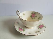 Adderly Pink Rose Bony China Tea Cup and Saucer Vintage Set
