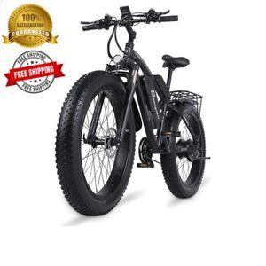 "Electric Bike Ebike 26"" Front 1500w Fattier Beach Cruiser City Mountain Bicycles"