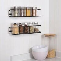 2 Pack Bathroom Spice Rack Wall Mounted Spice Storage Organizer Cupboard Storage