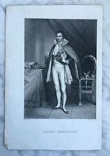 Gravure Joseph Bonaparte Ad.Varin,Sc G.Staal del XIXe