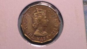 FIJI ISLANDS - 1965 THREEPENCE - COLONIAL ERA - PREDECIMAL COIN. Nickel/Brass.