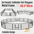 16 Panel 80 cm Heavy Duty Pet Dog Playpen Puppy Exercise Fence Enclosure Cage