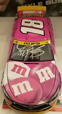 2015 KYLE BUSCH #18 DUAL AUTOGRAPHED M&M'S PINK BREAST CANCER AWARENESS 1/24TH