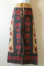 G146 Gothic Hippie Gypsy Bohemian Renaissance Heavily Embroidered Long Skirt - L