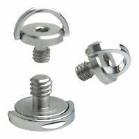 """Single Hex D Ring Screw 1/4"""" Camera Tripod QR Plate Stainless Steel 57#"""