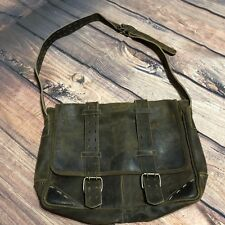 BOSI  Brown Distressed Leather Briefcase Messenger Satchel Carrier Laptop Bag