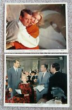 NORTH BY NORTHWEST ORIGINAL 1959 SET OF 2 MINI LC's 8X10 CARY GRANT VG