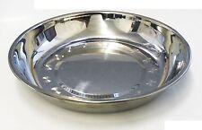 """6 Pcs 9 3/16"""" Stainless Steel Kitchen Round Plate Dish Dim Sum Steam Silver JW"""