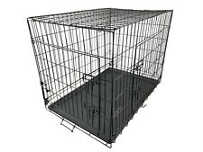 More details for dog animal cage puppy crate pet training carrier small medium large xl with tray