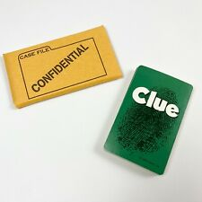 Clue Board Game 1998 Replacement Playing Cards 21 Cards & Confidential Case File