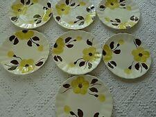 Blue Ridge Southern Pottery Gold/yellow brown Dogwood~ 7 salad Plates