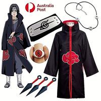 Naruto AKATSUKI ROBE Cloak Uchiha Itachi Cosplay Costume Claok Cape Unisex S-XXL