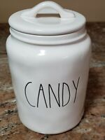 """New RAE DUNN Artisan Collection LL """"CANDY"""" Large Canister By Magenta"""