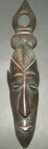 sculpture masque en ébène homme africaine. Très bon état african sculpture ebony