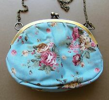 AS NEW Anna Sui Aqua Floral Cotton Women's Handbag