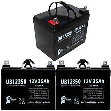 3-pack Yamaha Rhino Battery UB12350 12V 35Ah Sealed Lead Acid SLA AGM