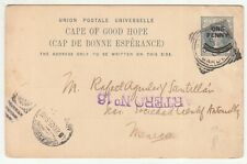 CGH: QV 1d Overprinted Postal Card; Council of S.A Philosophical Society-Mexico