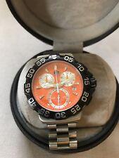 TAG HEUER CAH1113 Men's 41mm Orange Dial Formula 1 200m Quartz Chronograph