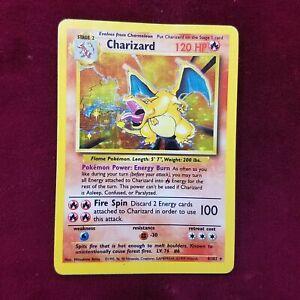 Pokemon Base Set CHARIZARD Holo 4/102 LP ~PKMN AU-04
