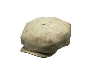 Brand New Olney 100% Irish Linen Baker Boy Summer 8 Piece Cap Peaky-Tommy E220