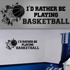 "Basketball Wall Quote. Basketball Wall Decal, Basketball Sticker, 36""x12"""