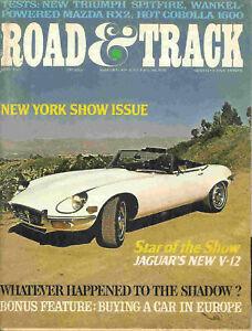 Road & Track 1971 May corolla mazda rx2 spitfire jaguar
