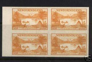 Newfoundland #C14a XF/NH Imperf Block Gem