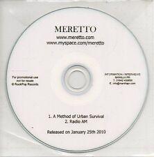 (AR65) Meretto, A Method of Urban Survival - DJ CD