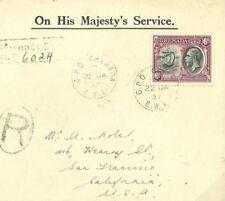 W547 1937 GRENADA Superb Registered Official Cover USA San Francisco {samwells}