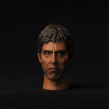"Headplay Model 1/6 Scarface Al Pacino Tony Montana Star Man Head F 12"" Figure"