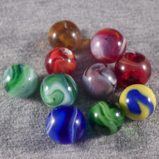 BB Marbles: Akro Agate Co. 9 Slags. All Mint. (KB10)
