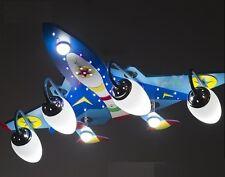New Plane LED Ceiling Light Pendant Lamp Lighting Kid Child Boy Jet Fly Bedroom