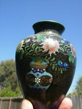 Unusual Chinese China Cloisonne Vintage Old Butterfly Jar with top Ornate