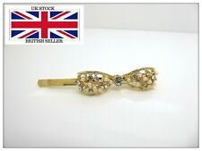 Crystal Bow Hairpin,Pretty,Clip,Hair Clip,Accessories,Gold,Wedding,Parties,Gems,
