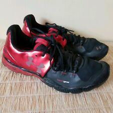 Under Armour Mens Charge RC Storm Black/Gray/Red Running Shoes Size US 9.5