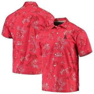 Tommy Bahama 2021 Los Angeles ANGELS Seventh Inning Button-Up Men's Shirt NEW