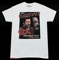 New Parks and Recreation 2009 Ron Swanson Kanji Japanese Vintage Mens T-Shirt
