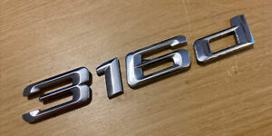 BMW 316 D Rear Number Badge Logo Emblem (D40)