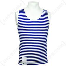 Crew Neck Striped Sleeveless T-Shirts for Men