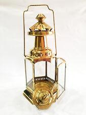 "Beautiful Vintage Brass Ship Railroad Oil Kerosene Burner Lantern Oil Lamp 12"""